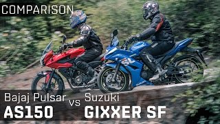 getlinkyoutube.com-Bajaj Pulsar AS150 vs Suzuki Gixxer SF :: Comparison Video Review :: Zigwheels