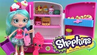getlinkyoutube.com-Shopkins Shoppies Poupée Jessicake Doll Super Frigo Super Cool Fridge