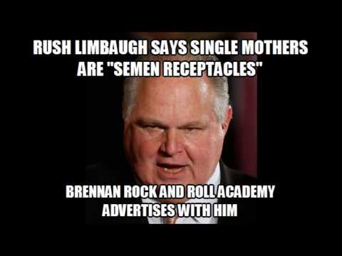 Brennan Rock and Roll Academy Supports Sexist Rush Limbaugh