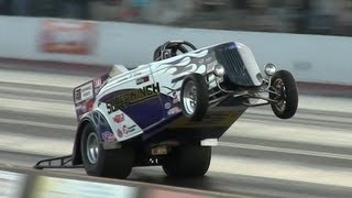 SuperWinch Wheel stander 8.72 @ 148 mph, Danny O'Day - World's fastest car on Two Wheels!