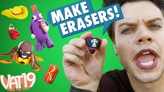 getlinkyoutube.com-Sculpt your own Erasers from Clay