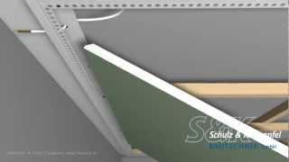 LED-Trockenbauprofil mit Sichtschenkel für direkten Anschluß an Bauteile