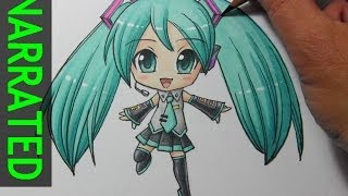 getlinkyoutube.com-How to Draw Chibi Hatsune Miku [Narrated Step by Step]