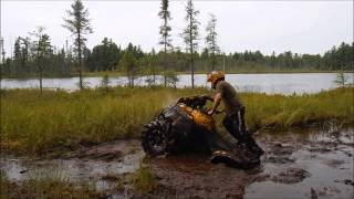 getlinkyoutube.com-Can-am Renagade 1000, Outlander 1000, Yamaha Grizzly MUD BATH