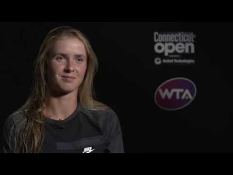 Elina Svitolina Semifinal Interview   2016 Connecticut Open