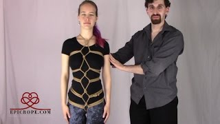getlinkyoutube.com-Beginner   Rope Bondage Tutorial: Karada Hishi (Diamond) Pattern
