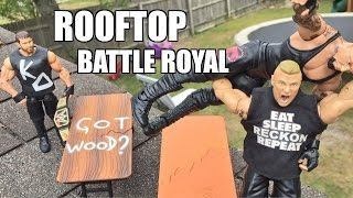 getlinkyoutube.com-GTS WRESTLING: ROOF TOP RUMBLE! WWE Mattel Elite Figure Matches ANIMATION PPV Event!