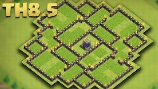 getlinkyoutube.com-Clash of Clans - Town Hall 8.5/8.75 Dark Elixir Farming Base (TH9 No Xbow DE Base) 2016
