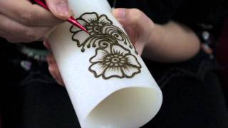 getlinkyoutube.com-How to do Arabic Henna on a Candle