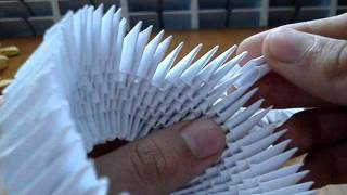 getlinkyoutube.com-How to make a 3D Origami Swan #1
