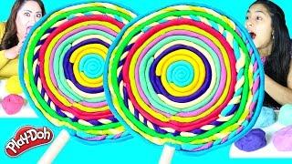 getlinkyoutube.com-DIY Giant Play Doh Lollipop|B2cutecupcakes