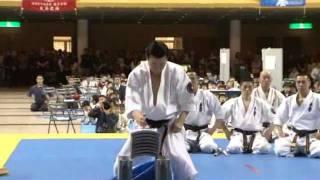 極真会館大石道場 大石代悟最高師範による試し割り演武 kyokushin