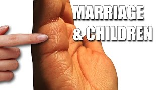 getlinkyoutube.com-MARRIAGE & CHILDREN LINES Female Palm Reading Palmistry #111