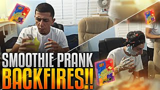 getlinkyoutube.com-DISGUSTING SMOOTHIE PRANK BACKFIRES!!