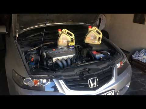 Замена масла в двигателе Honda Accord 7, 2.4 IVTEC