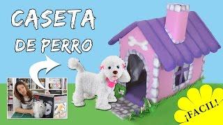 CASETA DE PERRO con caja de cartón * Tutorial de reciclaje