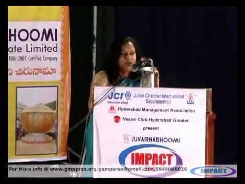 JYOTHI REDDY LIFE JOURNEY at IMPACT 2012 HYDERABAD