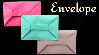 getlinkyoutube.com-Origami Paper 'Envelope'  - A4 sheet (No Glue or Tape)