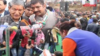 नरेन्द्रनगर गजा में काँग्रेस की धूम