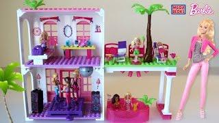 getlinkyoutube.com-Mega Bloks Barbie Beach House - Barbie Lego Dollhouse