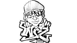 getlinkyoutube.com-Drawing Graffiti - (WIZ) - and a Character.