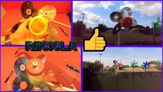 getlinkyoutube.com-Nuevo molinillo de viento con cd y bote de plástico (reciclando)