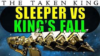 getlinkyoutube.com-Destiny: Sleeper Simulant vs King's Fall RAID BOSSES! | Exotic Heavy Fusion Rifle | Taken King