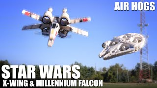 getlinkyoutube.com-Star Wars X-Wing & Millennium Falcon by Air Hogs | Flite Test