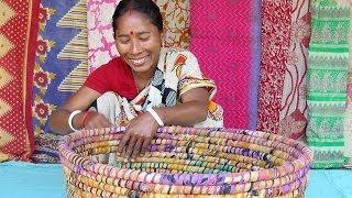 getlinkyoutube.com-Recycled Saris from Bangladesh