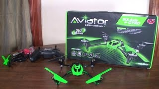 getlinkyoutube.com-Huaxiang Toys - Aviator 8927V - Review and Flight (Indoor & Outdoor)