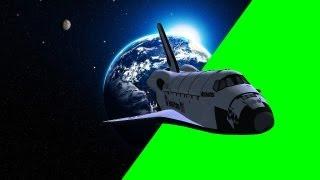 getlinkyoutube.com-Space Shuttle Fly By - free green screen