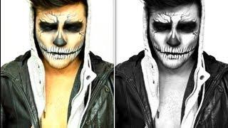 getlinkyoutube.com-Death Skull Makeup Tutorial | Alex Faction