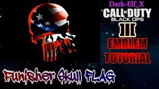 getlinkyoutube.com-Black Ops 3 Emblem - Punisher Skull Flag