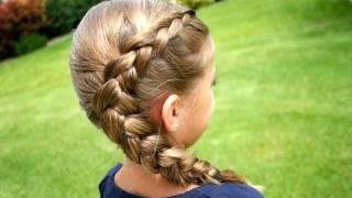 getlinkyoutube.com-Same-Side Dutch Braid | Medium Hairstyles | Cute Girls Hairstyles
