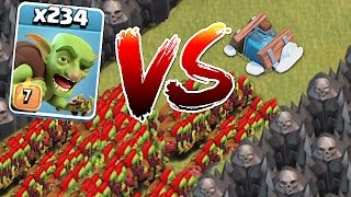 getlinkyoutube.com-WHO WILL WIN!?!😀 234 GOBLINS vs. NEW FREEZE TRAP!!🔸Clash of clans