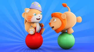 getlinkyoutube.com-Looi the Cat | 3D Animation for Kids | Lion | Animal Toy Cartoons | Puzzle