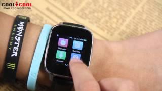 getlinkyoutube.com-ZEBLAZE CRYSTAL Review,Bluetooth 4.0 Waterproof Smart Watch