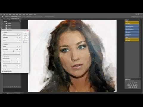 how to make a water color in Photoshop (photoshop & impressionist aquarelle)