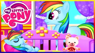 getlinkyoutube.com-💫 My Little Pony Rainbow Dash Newborn Baby Pony Princess Make Up and Dress Up Game