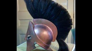 getlinkyoutube.com-300 King Leonidas Spartan replica helmet 1/1