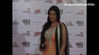 Deepika Singh BEAUTIFUL in Anarkali dress at TELLY AWARDS 2013.