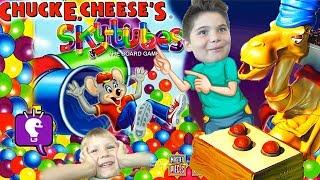getlinkyoutube.com-Spitting Camel + Chuck E Cheese SkyTubes Games! HobbyFamily Fun Game Time with HobbyKidsTV