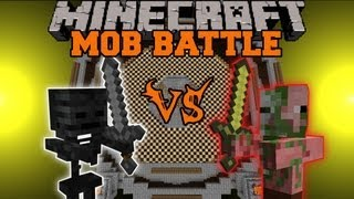 getlinkyoutube.com-ZOMBIE PIGMAN VS. WITHER SKELETON - Minecraft Mob Battle - Arena Battle