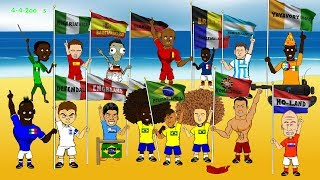 getlinkyoutube.com-BRAZIL WORLD CUP 2014 HIGHLIGHTS - the group stage by 442oons (funny football cartoon)