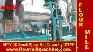 getlinkyoutube.com-Small flour mill machine making wheat flour, build flour mill plant.