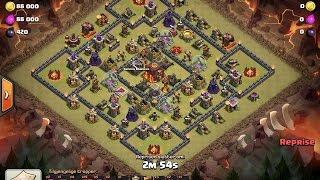 "Clash Of Clans | TH10 ""3 STAR"" ON BOX BASE - AQ Healer Walk"
