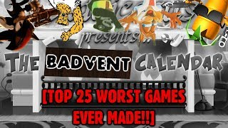 Top 25 WORST Games I've Ever Played! [Badvent Calendar SUPERCUT]