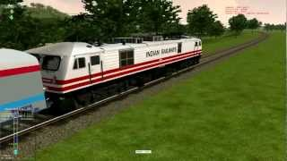 getlinkyoutube.com-MSTS Rajdhani express overtaking Duronto express