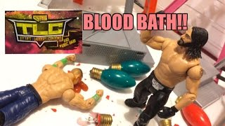 getlinkyoutube.com-GTS WRESTLING: TLC PPV Event! WWE Mattel Wrestling Figure Matches Animation! Tables Ladders Chairs