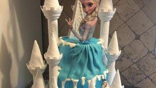 getlinkyoutube.com-PASTEL DE FROZEN (torta de frozen decoracion  sencilla)